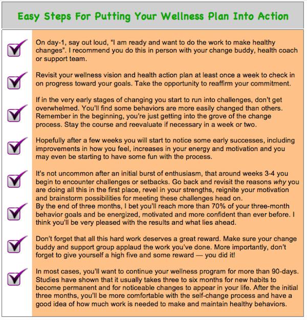 Wellness Plan Steps